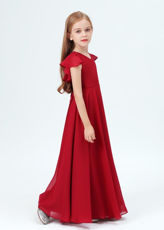 Flower Girl Dresses,Kids Girls Dress Costume V-neck Dress Girls Wedding Dress