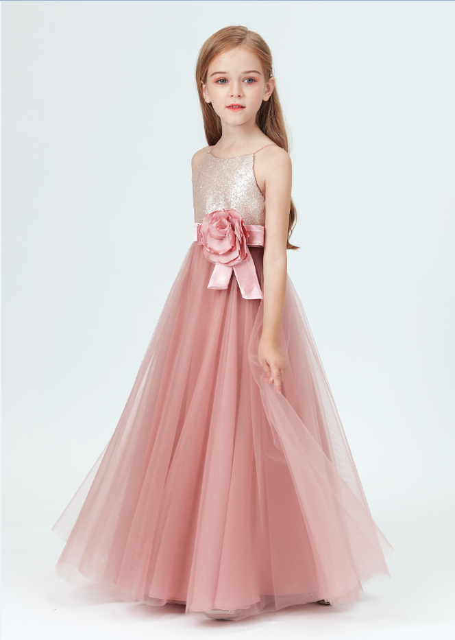 Flower Girl Dresses,Tulle Flower Girl Dress Party Appliques Long Sleeve For