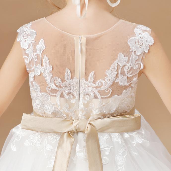 Flower Girl Dresses,Princess Wedding Dress Children Party Elegant Dress Wedding