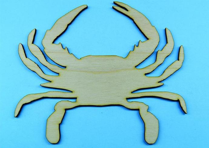 Crab  / Nautical Wood Cut Out / Laser Cut Wood