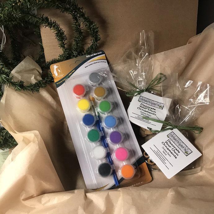 Ornament Family Paint Kits Christmas Shapes, Angel, DogCat, Dinosaur,