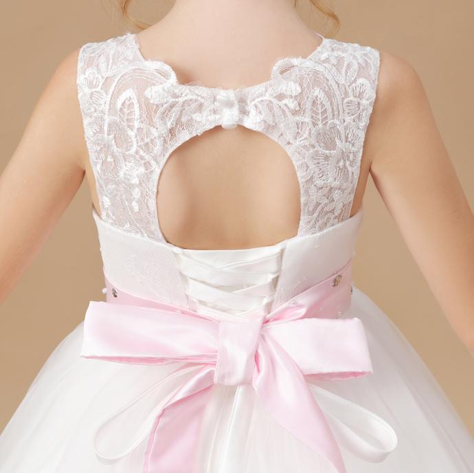 Flower Girl Dresses,Mesh Butterfly Wedding Party Princess Dress Sleeveless Sweet