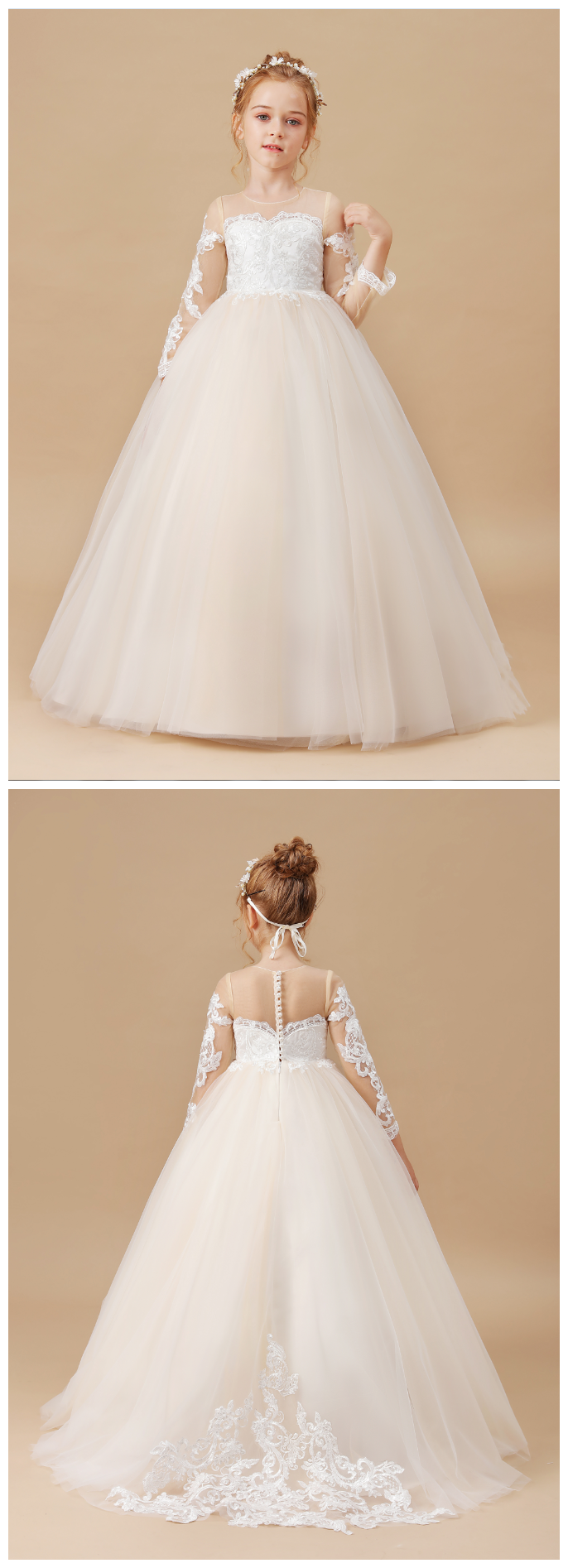 Flower Girl Dresses,Banquet Dress Baby Kids Clothes Wedding Children Clothing