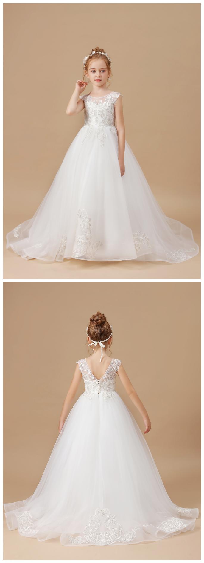 Flower Girl Dresses,Elegant Flower Girls Dress Wedding Party Princess Dress Kids