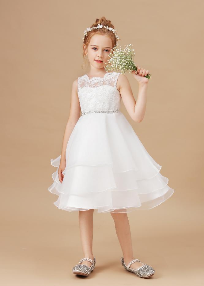 Flower Girl Dresses,Kids Flowers Dresses For Girls Lace Birthday Party Dress