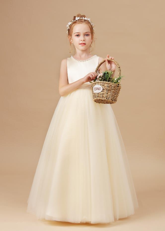 Flower Girl Dresses,Kids Princess Dress Wedding Flower Girl Dress Children Prom