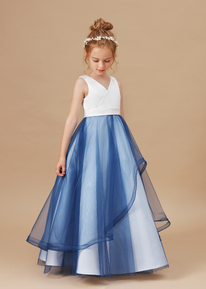 Flower Girl Dresses,Flower Girls Wedding Dress Net Yarn Party Kids Dresses Ball