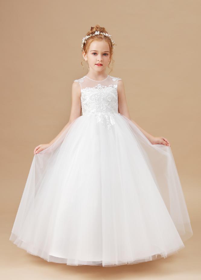 Flower Girl Dresses,Princess Flower Girl Dress Wedding Birthday Party Kids