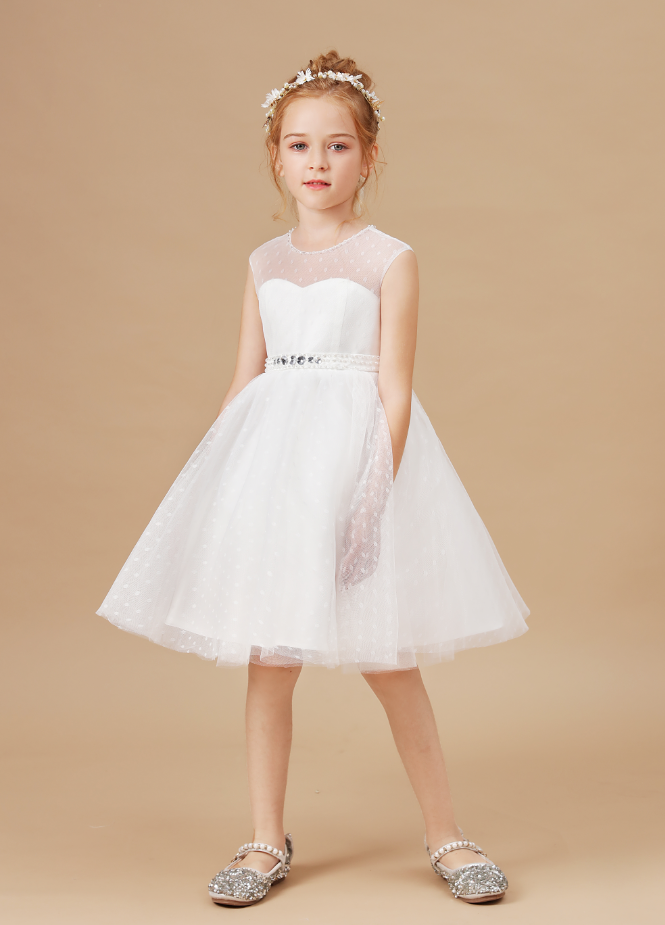 Flower Girl Dresses,Autumn Girls Dress Kids Elegant Prom Princess Kids Baby