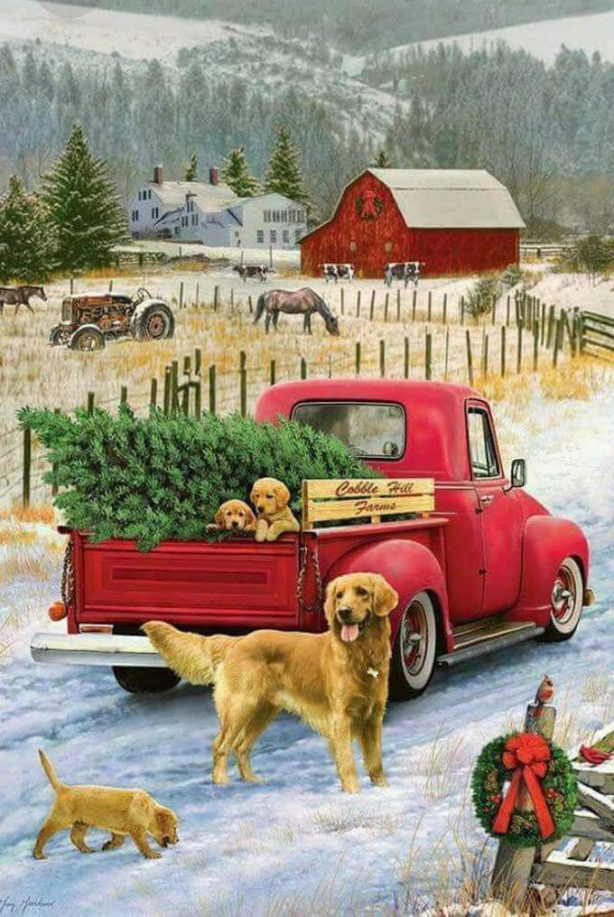 Christmas On The Farm Cross Stitch Pattern***LOOK***X***INSTANT DOWNLOAD***