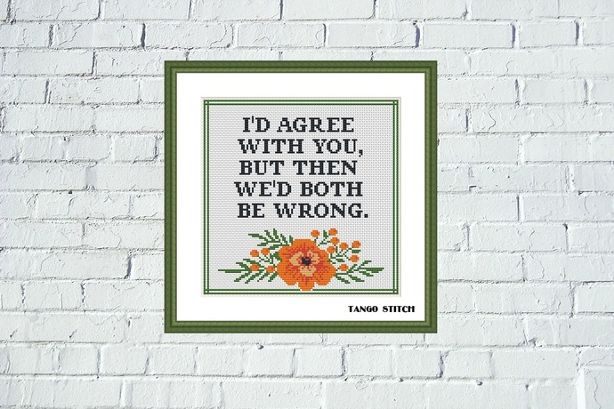I'd agree with you funny cross stitch pattern