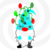 Gnome 26a-Digital ClipArt-Art Clip-Gift
