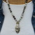 Beaded Necklace, Laguna Lace Agate Necklace, Gray Necklace, Neutral Necklace,