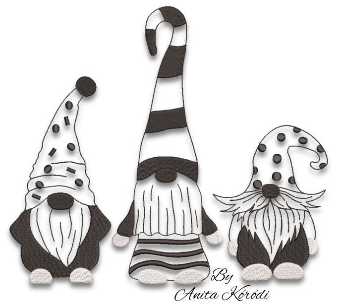 Gnomes embroidery designs machine pattern cute instant digital download gnome pe