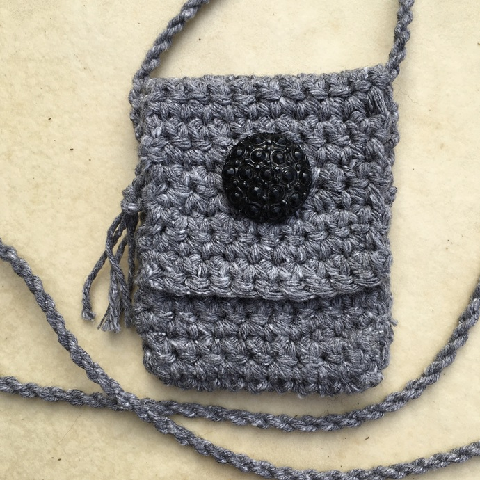 "Handcrafted Spirit Pouch - ""Overcast"""