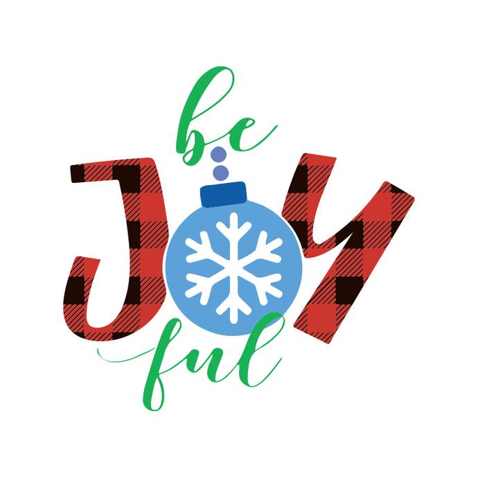 Be Joy Full Christmas, Christmas Svg, Christmas Svg Files