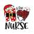 N Is For Nurse Png, Santa Nurse Shirt, Nurse Red Plaid Png, Nurse Crew Png,