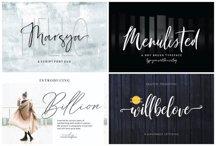 Premium Font Bundle, Handwritten Font, Script Font, Typeface Font, Brush Font,