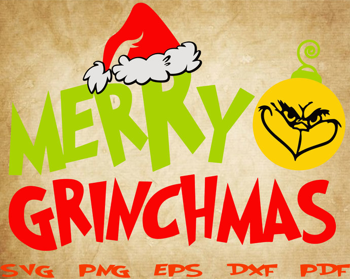 Merry Grinchmas Svg Cut File Grinch Christmas Grinch Svg Grinch Hand Grinch Face