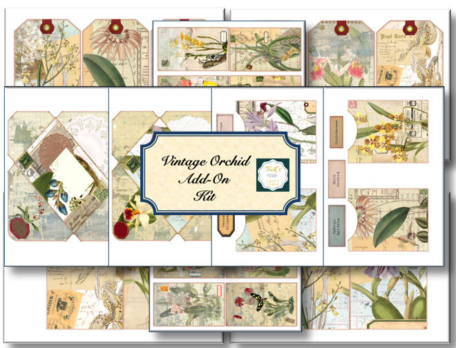 Add-On Vintage Orchid Journal Kit