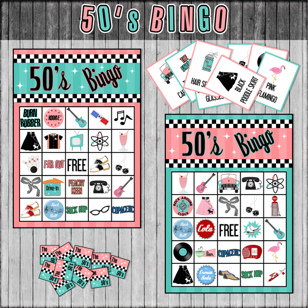Printable Fifties Bingo Game