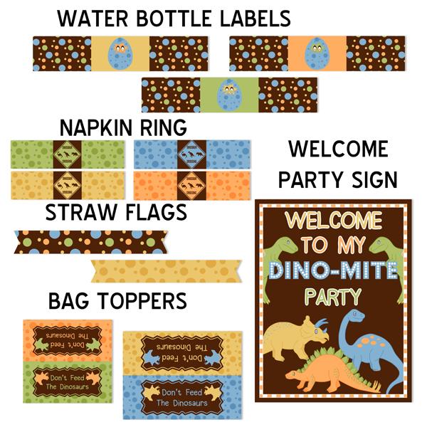 Dinosaur Printable Birthday Party Kit_Boy