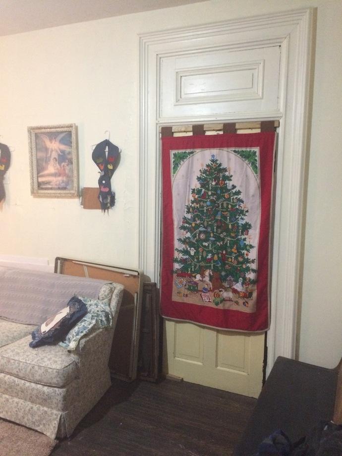 Wall Hanging Retro Christmas Tree Print