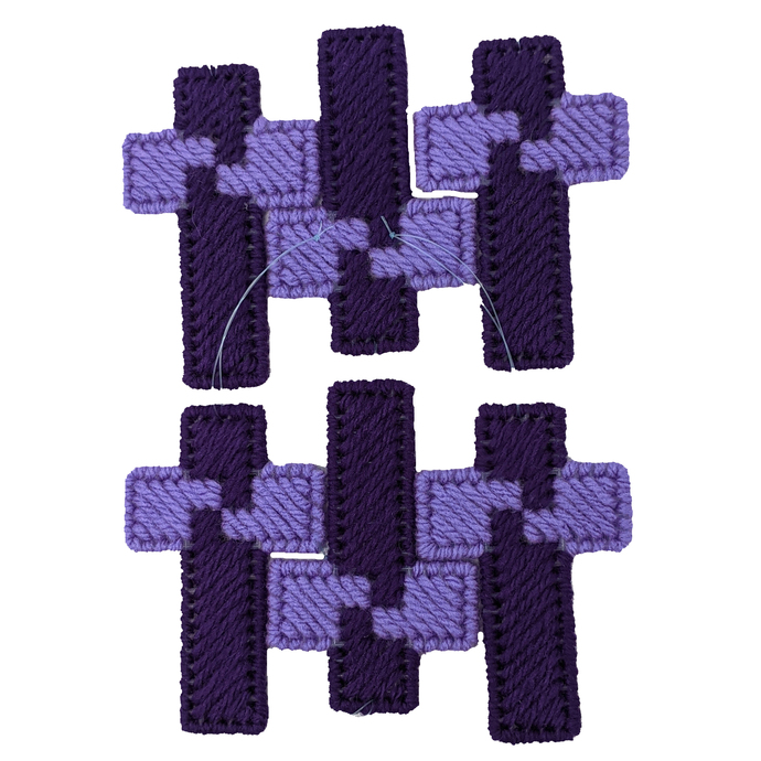 Easter Christmas Cross Ornaments Purple