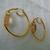 vintage Nolan Miller side set topaz crystal gold hoop earrings pierced