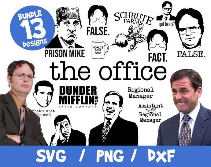 The Office SVG 55 Files Bundle, The Office Bundle SVG, The Office Cricut