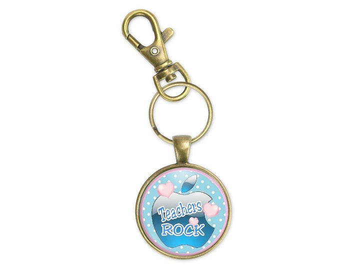 Useful teacher gift, teacher gift from a boy.  Pendant, purse charm or key ring.