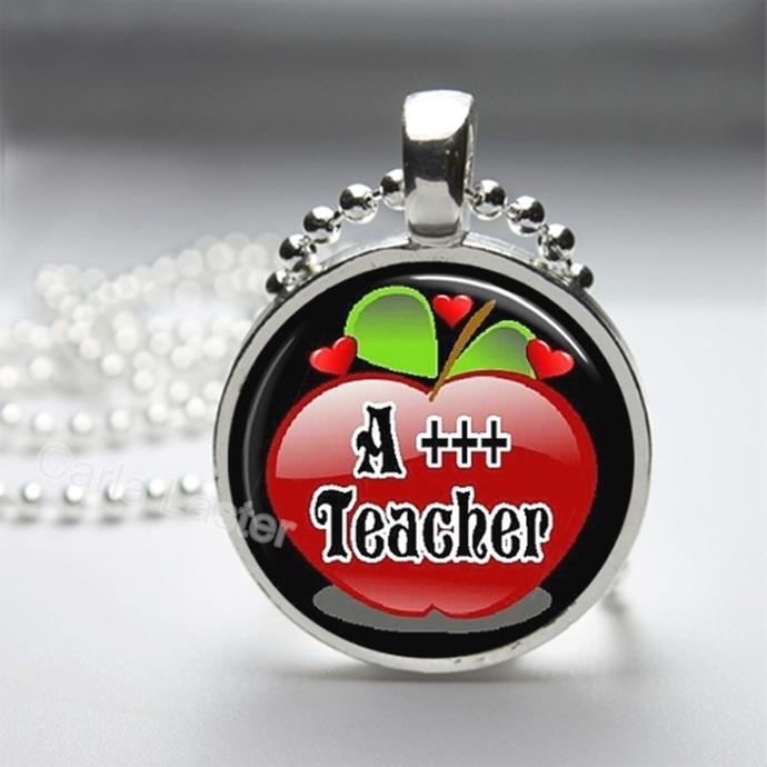 Useful teacher gift, teacher gift from a boy.  Pendant, purse charm or key ring.