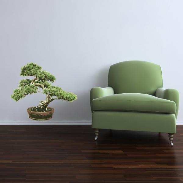 "Large Bonsai Tree Wall Decal - 23"" tall x 27"" wide"