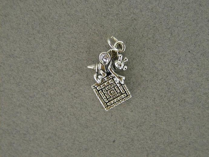 Sterling Silver Quilting Bee Charm