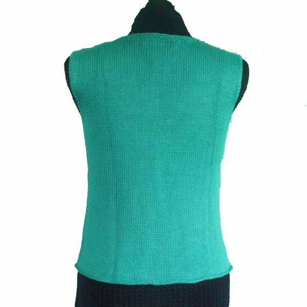 Turquoise Sleeveless Cotton / Modal Sweater - Size Small