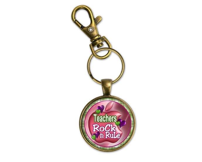 Useful teacher gift, teacher gift from a girl. Pendant, purse charm or key ring.