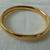 vintage gold etched clamp bangle bracelet mint