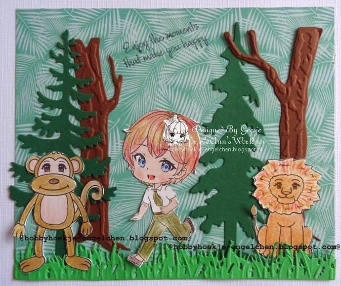 Monkey - Digital Stamp