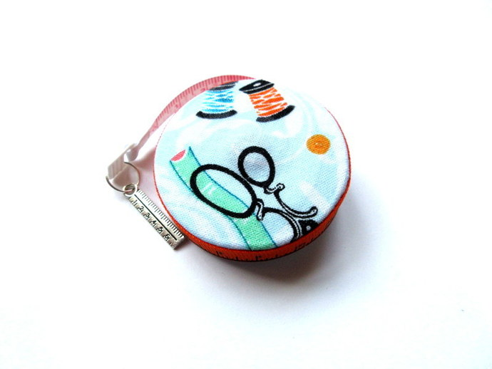 Tape Measure Sewing Theme Retractable Measuring Tape