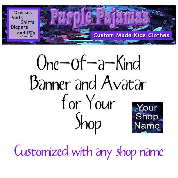 """One-of-a-Kind """"Purple"""" Shop Banner"""