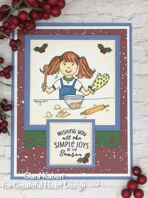 Girl Baker - digital image, stamp,