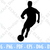Drawing Soccer player vector graphics format Svg Dxf Dwg Pdf Png digital Cricut