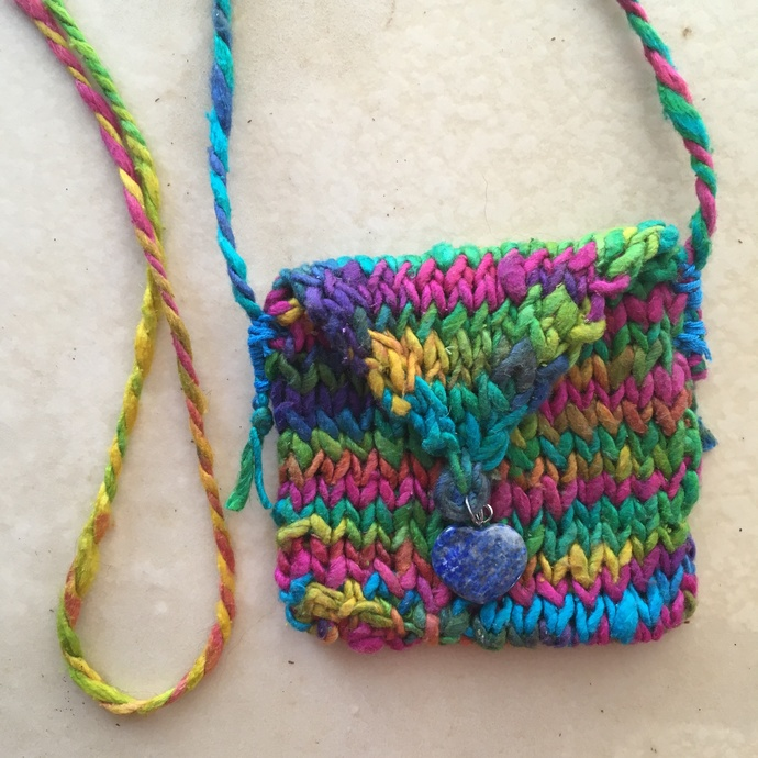 """Wisdom Keeper"" - a Hand Knitted Spirit Pouch"