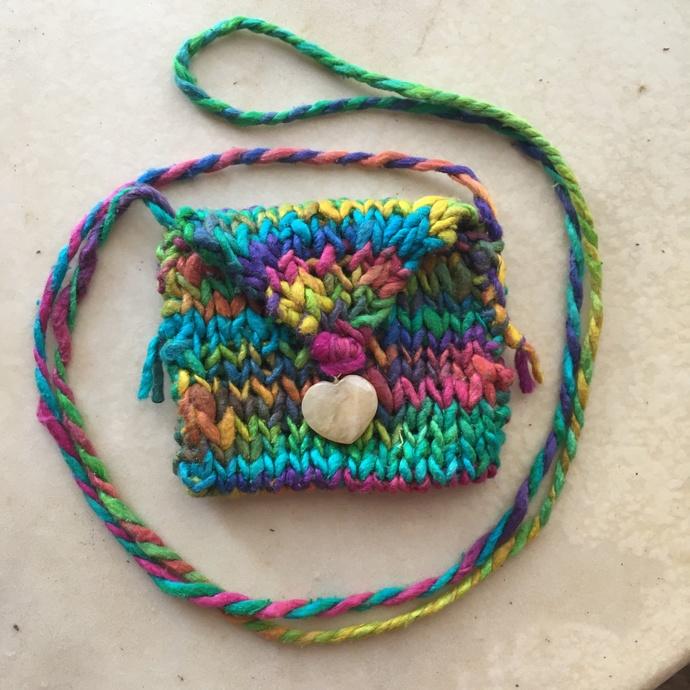 """Empyrean"" - a Hand Knitted Spirit Pouch"
