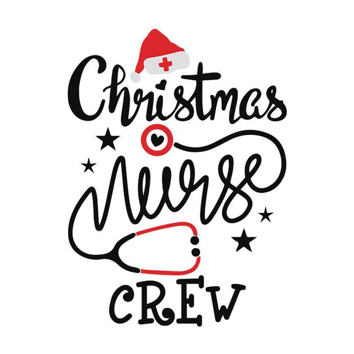 Christmas Nurse Crew Funny Christmas Nurse Santa Christmas, Christmas Svg,