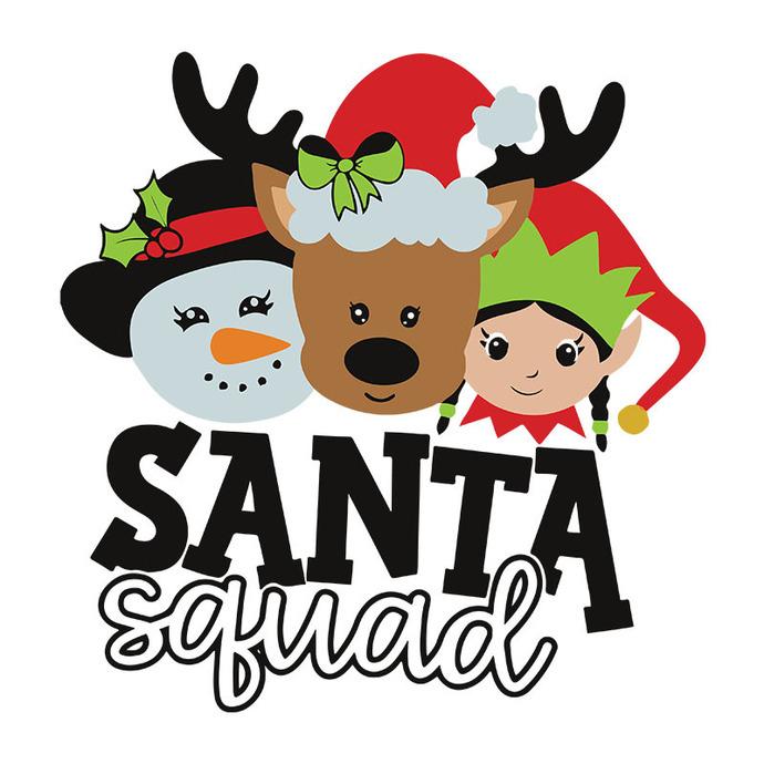 Christmas SVG, Santa Squad SVG, Reindeer svg, Elf svg, Frosty svg, Christmas