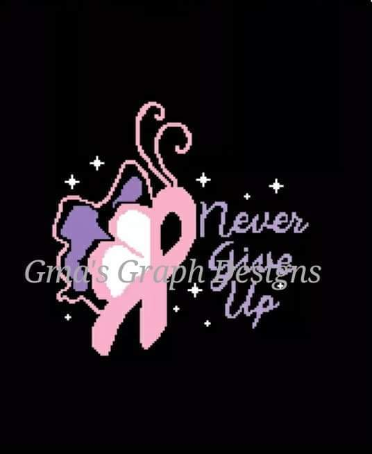 Breast Cancer Butterfly 180 x 220 sc