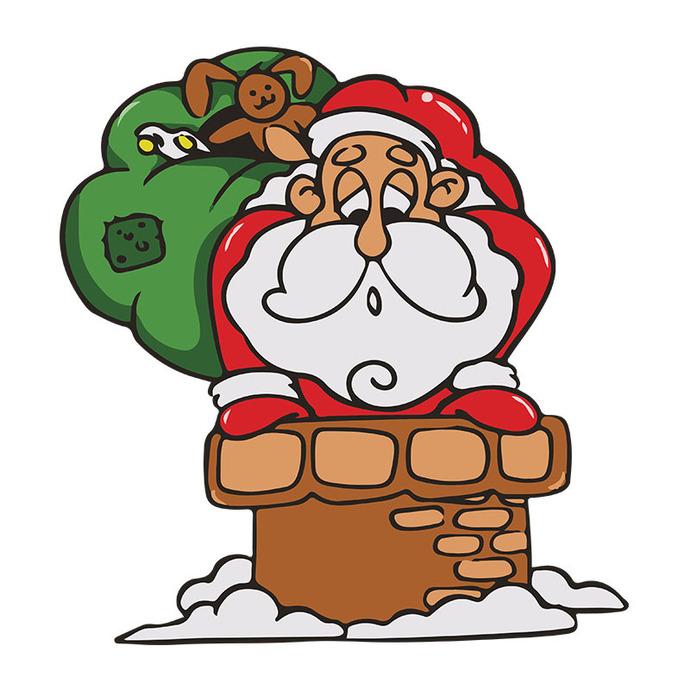 Santa Claus Cartoon Christmas Svg, Christmas Svg Files