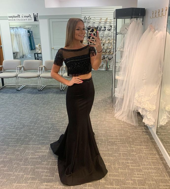 Two Pieces Mermaid Prom Dresses,Long Prom Dresses,Cheap Prom Dresses, Evening