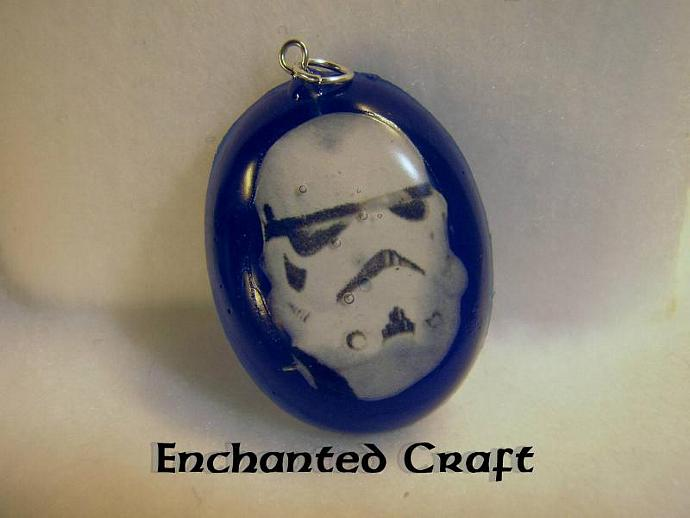 Storm Trooper resin pendant from my own Star Wars art